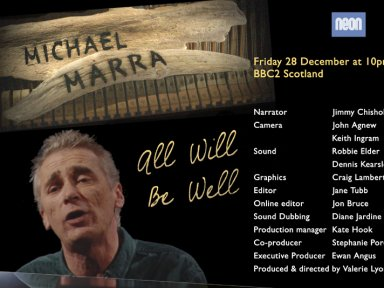 MICHAEL MARRA - ALL WILL BE WELL - A Televison tribute