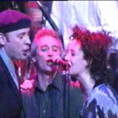 Drumbeat 1Taken from the Drumbeat concert in Glasgow.  Left to right...  Gary Clark Michael Marra Lorraine McIntosh